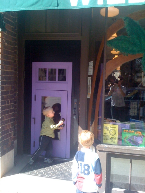 Wild Rumpus Bookstore kid door (P&D don't like when I use their door)