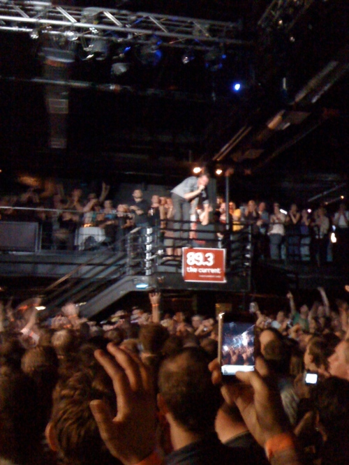 Mr. November, Matt Berninger, on the steps at First Ave