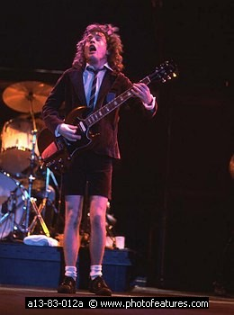 Angus Young guitarist of AC/DC